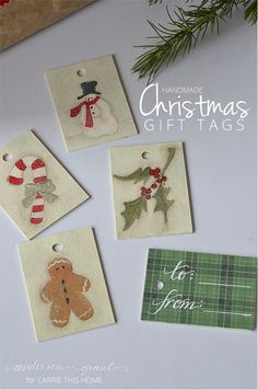 Featured at Living Well Spending Less. Handmade Christmas Gift Tags from anderson + grant for Carrie This Home