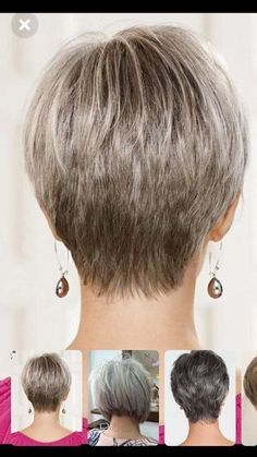 Women short hair 58969076359049244 - New Pixie And Bob Haircuts 2019 – Coiffures super courtes – Style de Cheveux Source by Short Hair Back, Short Hair Older Women, Short Grey Hair, Short Hair With Layers, Long Hair, Haircuts For Fine Hair, Cute Hairstyles For Short Hair, Short Hair Styles, Pixie Haircut Styles