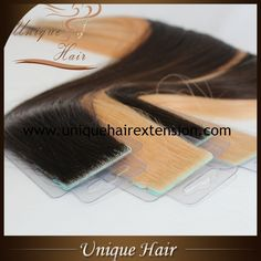 Best Quality Skin Weft Hair Extensions, 100% premium quality human hair, 100% hand tied, natural looking, manufacturer by Qingdao Unique  Hair Products Co.,Ltd. Contact us for details, sales@uniquehairextension.com whatsapp: +8613553058361