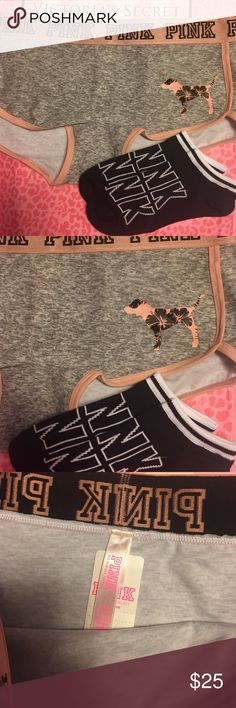 VS PINK BOY SHORT AND SOCK BUNDLE Brand new with tags PINK Victoria's Secret Intimates & Sleepwear Panties