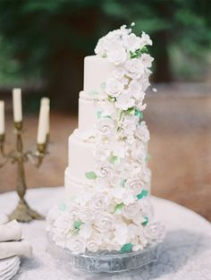 Photography: Marina Koslow Photography - marinakoslowphotography.com Read More: http://www.stylemepretty.com/2014/08/14/colorful-wedding-cake-inspiration/