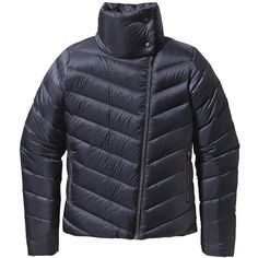 Patagonia Women's Prow Jacket (260 CAD) ❤ liked on Polyvore featuring outerwear, jackets, smolder blue, blue jackets, tall jackets, patagonia jackets, zipper jacket and blue motorcycle jacket