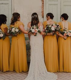 2e4a9c62a89 25 Fabulous Summer Color Palette Bridesmaid Dresses - Yellow mustard  bridesmaid dresses  bridesmaids  bridesmaiddress