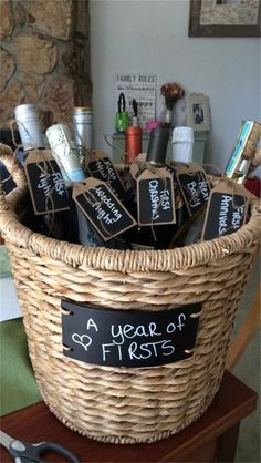 Bridal shower wine crate gift set with 8 tags and shower