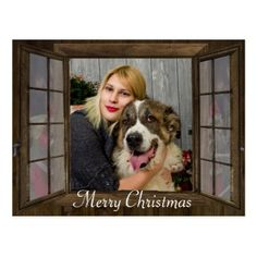 #photo - #Personalized Photo Window Christmas Postcard