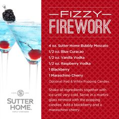 Fizzy Firework #wine #cocktail