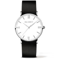 PAUL HEWITT Nato Strap Watch Silver Line Standard Black