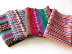 Aztec Fabric Bundle, 4 Large Pieces of tribal fabric