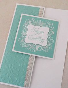 Stampin' Up! Elementary Elegance stamp set & Finial Press embossing folder, Happy Birthday Card, Versatile Card