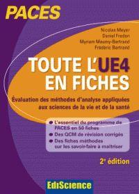 Tout l'UE 4 en fiches : évaluation des méthodes d'analyse appliquées aux sciences de la vie et de la santé / Nicolas Meyer, Daniel Fredon, Myriam Maumy-Bertrand, [et al.]. - [2e édition], Paris : Édiscience, 2015 BU LILLE 1, Cote 570.151 95 TOU http://catalogue.univ-lille1.fr/F/?func=find-b&find_code=SYS&adjacent=N&local_base=LIL01&request=000627013
