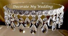 Decorate my wedding. Wedding Cake Stands, Unique Wedding Cakes, Wedding Cake Designs, Unique Weddings, Silver Weddings, Frozen Party Decorations, Baby Shower Decorations, Wedding Decorations, Wedding Centerpieces