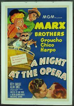 Marx brothers (hermanos Marx). Una noche en la ópera