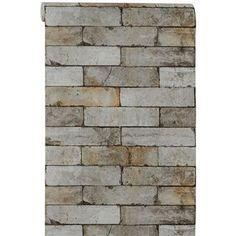 BEHANG ABEL GRIJS #behang #opdemuur #muurdecoratie #kwantum #steendessin