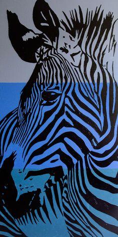 Zebra 100x200 acrilico su tela