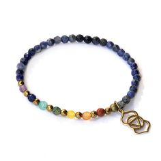 Third Eye Chakra Delicate Bracelet, with Chakra gemstones and Sodalite – Lovepray jewelry