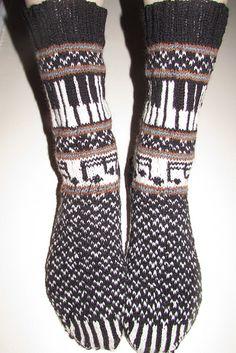 Ravelry: Musica: The Socks 2014 pattern by Deborah Tomasello Crochet Socks, Knitting Socks, Hand Knitting, Knit Crochet, Knitting Patterns, Crochet Patterns, Aran Weight Yarn, Knit Stockings, Stocking Pattern