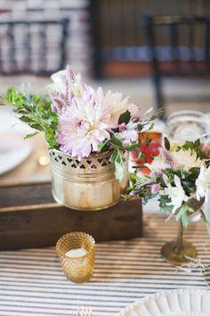 dahlia centerpiece | Alicia Swedenborg #wedding