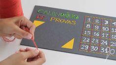 DIY: Calendário de Provas