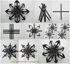 Easy To Make Christmas Paper Star - DIY - Find Fun Art Projects to Do at Home and Arts and Crafts Ideas Diy Christmas Star, Christmas Paper, Simple Christmas, Christmas Tree Decorations, Holiday Crafts, Christmas Images, Beautiful Christmas, 3d Paper Snowflakes, Paper Stars