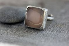 Pink Chalcedony & Sterling Ring Translucent