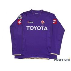 Photo1: Fiorentina 2007-2008 Home Players L/S Shirt #10 Mutu Lega Calcio Serie A Patch/Badge LOTTO toyota - Football Shirts,Soccer Jerseys,Vintage Classic Retro - Online Store From Footuni Japan