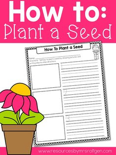 Planting Seeds Writing Freebie | This is a FREE set of how-to pages that will help your Kindergarten & 1st grade students write the steps to planting a seed! There are options for three-step and four-step directions, and three variations of each. These work great if you're planting your own seeds in your classroom, or after reading about planting seeds, and they are a great follow-up activity after discussing the steps to planting seeds. Also great for homeschool families!