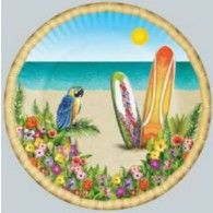 Plates Paradise Tropical 23cm Pkt 8 $12.95 BE58005 Wholesale Party Supplies, Printed Balloons, Party Needs, Party Stores, For Your Party, Hawaiian, Decorative Plates, Paradise, Stationery
