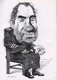 Richard Nixon // david levine