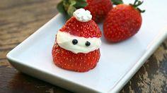 Las fresas de Papá Noel son una divertida merienda para hacer con los niños. ¡Y además son el snack perfecto para la época navideña!