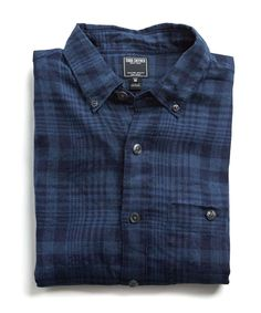Todd Snyder Slim Linen Indigo Check Button Down Shirt In - XS Homens De  Terno 0781c0a61a220