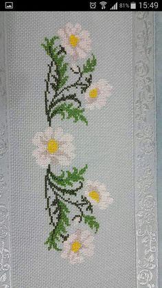 Wajdi Masad's media content and analytics Cross Stitch Bookmarks, Cross Stitch Art, Cross Stitch Borders, Cross Stitch Flowers, Cross Stitch Designs, Cross Stitching, Cross Stitch Embroidery, Embroidery Patterns, Hand Embroidery