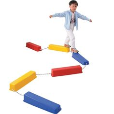 This balance beam is the perfect addition to any obstacle course or sensory room providing children with an excellent way to improve their balance. Buy now and get them delivered straight to your door Youth Games, Balance Beam, Obstacle Course, Educational Games, Gross Motor, Sensory Play, Early Learning, Baby Gear, Playroom