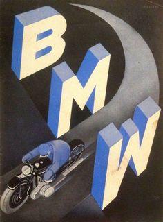 affiches art déco BMW Henry Ehlers