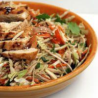 The Growing Foodie: Weeknight Dinner: Grilled Ginger-Sesame Chicken Salad