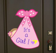 Newborn New Baby Door Hanger, Hospital It's a Girl Decoration Sign, Welcome Home Birth Announcement, Pink Shower Stork, Congratulation Gift Twin Baby Announcements, Its A Girl Announcement, Welcome Home Baby, Welcome Baby Girls, Twin Baby Shower Decorations, Birthday Yard Signs, Baby Door Hangers, Pink Showers, Congratulations Gift