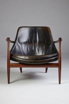 Elizabeth armchair designed by Ib Kofoed Larsen for Christiansen and Larsen, Denmark, 1956