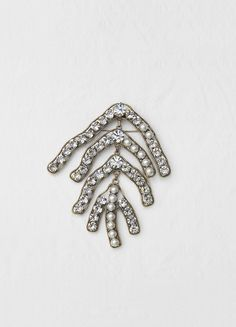 Reef brooch in brass, strass and glass pearl - Céline
