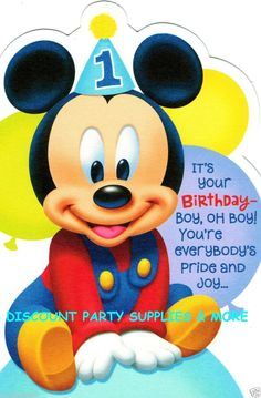 Mickey Mouse 1st bday on Pinterest | Mickey Mouse 1st Birthday, Baby Mickey Mouse and 1st Birthdays