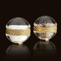 L'Objet Pave Band Jewel Gold + Multi-Color Crystals salt & pepper shakers . $180.00. These chic handmade crystal salt pepper shakers from L'Objet are plated with 14 kt gold with yellow crystals. Perfect as a gift or for your own table. Shipped in a presentation box for storage or gift giving. Size: 3 inches. Each set contains one salt shaker and one pepper shaker.