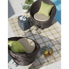 "Sunbrella ® Kiwi Green 20"" Sq. Outdoor Pillow 