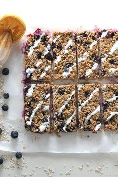 Blueberry Oat Breakfast Bar - My Fussy Eater