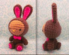 Hello Kitty Easter Chocolate Bunny Amigurumi 3 by Spudsstitches.deviantart.com on @deviantART