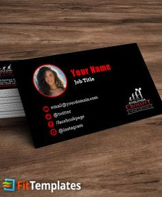CrossFit Box Business Card Template From FitTemplates Crossfit Cards