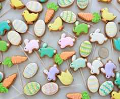 Mini+Easter+Decorated+Cookies