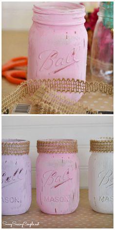 DIY Bathroom Decor: Rustic Painted Mason Jars & Some Premium Hand Soaps - Savvy Saving Couple