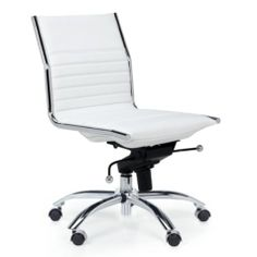 Malcolm Armless Chair White Desk Chairsoffice