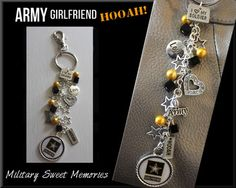 Army girlfriend purse charm (also available for wife)