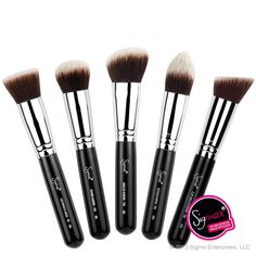 The best-selling Sigma Synthetic Kabuki Kit contains five face brushes for a high definition, flawless makeup application! http://www.sigmabeauty.com/Synthetic_Kabuki_Kit_5_brushes_p/smax06.htm?click=246498