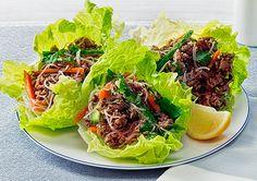 Hoisin and Plum Pork Mince in Lettuce Cups