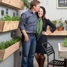 Chip and Joanna Gaines in Herb Garden